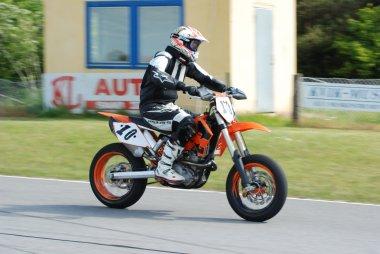 Supermotard motorcykel træning Vojens 2009
