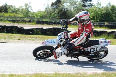 Motorcykel race style med format SUPERMOTARD