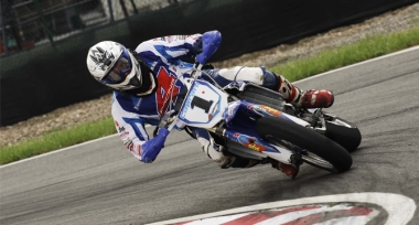 Slideways Supermoto Champion Mikkel Caprani Denmark