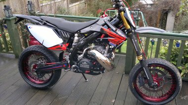 Jamie Clark CR500 engine in CRF450 chassis